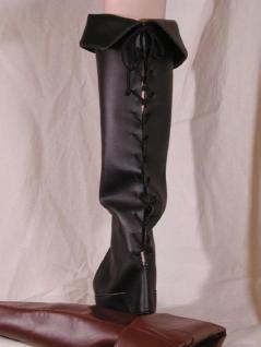 Stiefelstulpen schnürbar schwarz - Vorschau
