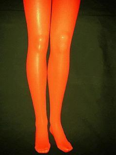 Strumpfhose orange blickdicht