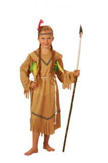 Kostüm Indianerin Kinder 7-9 Jahre Indianerkostüm Squaw Kostüm - Vorschau
