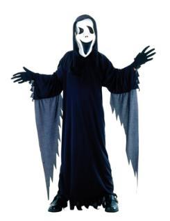 Kostüm Kinder Geist Gespenst Halloween Grusel 7-9 Jahre Kinderkostüm mit Maske Gruselmaske Gespenstermaske