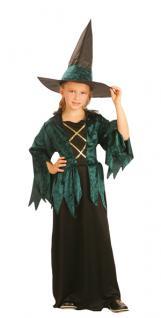 Kostüm Luxe Gothic Hexe Kinder 7-9 Jahre
