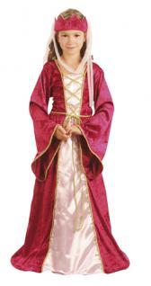 Kostüm Kinder Königin Prinzessin Hofdame Fee Kinderkostüm 7-9 Jahre