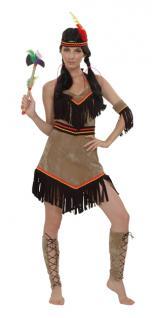 Kostüm Indianerin Super Luxe Einheitsgröße Indinaerkostüm Kostüm Indianer Squaw