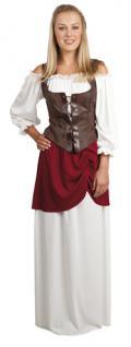 Kostüm Tavern Lady Magd Mittelalter Hofdame Marktfrau Königin