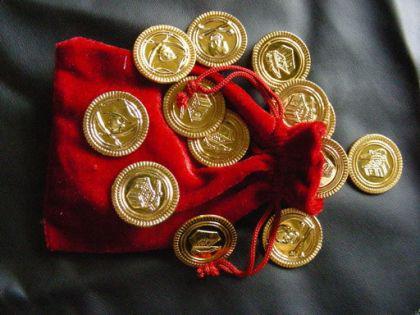 36 Goldmünzen Münzen Pirat Münze Goldmünze
