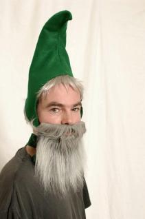Vollbart grau Bart