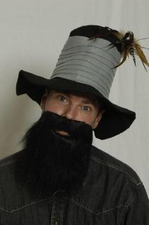 Vollbart schwarz Bart