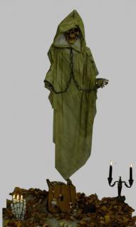 """Skelett """" grüner Tod """" 153 cm Schädel Knochen Halloween Pirat Deko Piratendeko Halloweendeko Totenkopf"""