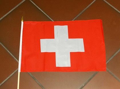 Fahne Schweiz mit Stock