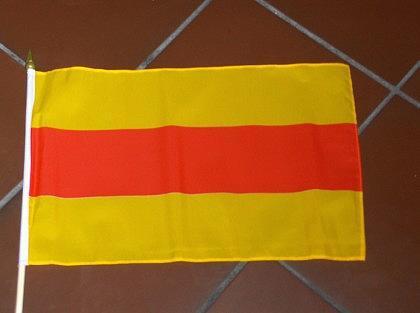 Fahne Baden mit Stock