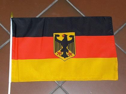 fahne deutschland mit adler und stock kaufen bei. Black Bedroom Furniture Sets. Home Design Ideas