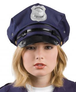 Polizeimütze Polizei - Mütze Polizeimütze SONDERPREIS Hut Kostüm Polizeihut Police Cop Hut Mütze Polizist - Vorschau