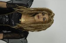 Perücke Pirat Reggae Dreadlocks blond hellblond Calypso