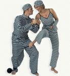 Sträfling Kostüm Karneval Fasching