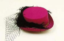 Hut Damenhut mit Netzschleife und Feder