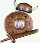 Wikinger - Set für Kinder Wikingerset Gallier Kostüm Wikinger Wikingerkostüm Helm Wikingerhelm