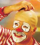 Clownglatze Glatze Clown