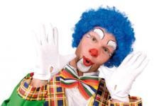 Perücke Clown Perücke Hair Clown blau Clownperücke