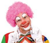 Perücke Clown Perücke Hair Clown pink Clownperücke