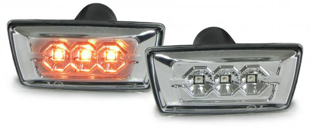 Opel Astra H Corsa D Zafira B Insignia LED SEITENBLINKER KLARGLAS CHROM