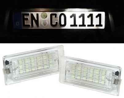 BMW X5 E53 05-07 LED KENNZEICHEN NUMMERNSCHILD BELEUCHTUNG MIT CANBUS