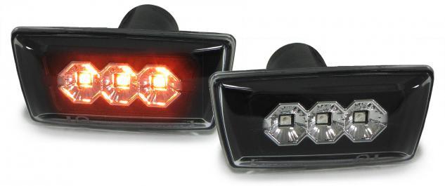 Opel Astra H Corsa D Zafira B Insignia LED SEITENBLINKER KLARGLAS SCHWARZ