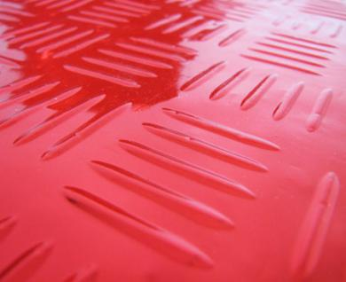 fussmatten universal alu riffelblech optik chrom rot kaufen bei carparts online gmbh. Black Bedroom Furniture Sets. Home Design Ideas