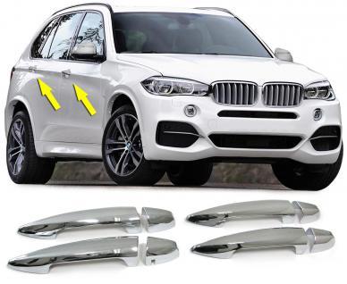 BMW X5 F15 ab 14 TÜRGRIFFE BLENDEN COVER ABDECKUNGEN CHROM