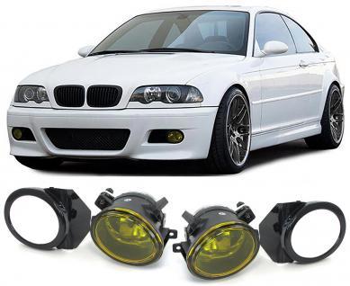 BMW E39 95-04 E46 98-05 KLARGLAS M3 M5 NEBELSCHEINWERFER HB4 MIT HALTER GELB