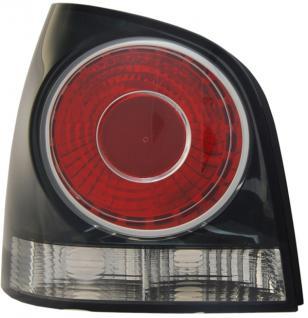 RÜCKLEUCHTE / HECKLEUCHTE SCHWARZ LINKS TYC für VW Polo 9N 05-09