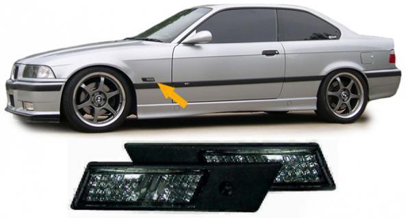 BMW E36 bis Bj.96 + E34 SCHWARZE KLARGLAS SEITENBLINKER