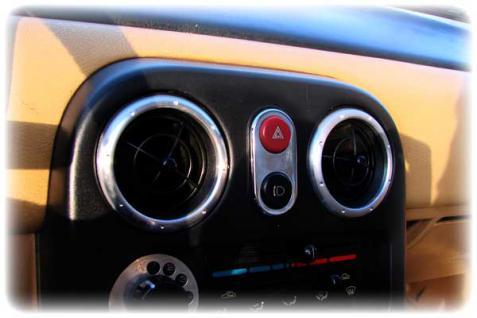 Mazda MX 5 Mx5 NA - Blende für Doppelschalter EDELSTAHL