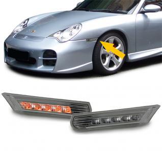 LED SEITENBLINKER SCHWARZ SMOKE PAAR für Porsche 911 996 + Boxster 986 97-05