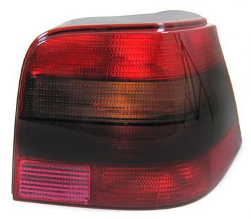 ROT SCHWARZE RÜCKLEUCHTE GTI RECHTS FÜR VW Golf 4 Limousine