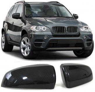 BMW X5 E70 06-13 X6 E71 08-13 AUSSENSPIEGEL KAPPEN ABDECKUNGEN COVER CARBON