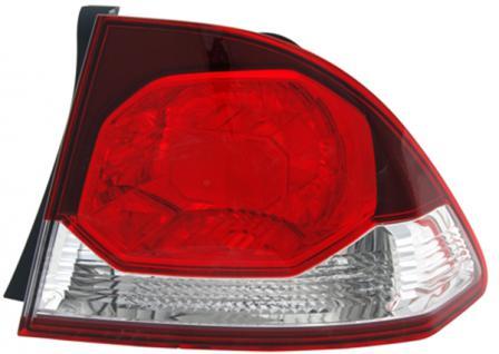 RÜCKLEUCHTE AUSSEN ROT KLAR RECHTS TYC FÜR HONDA Civic VIII Limousine FD 08-