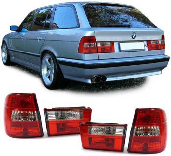 5ER BMW E34 Touring Kombi 91-97 KLARGLAS RÜCKLEUCHTEN ROT KLAR