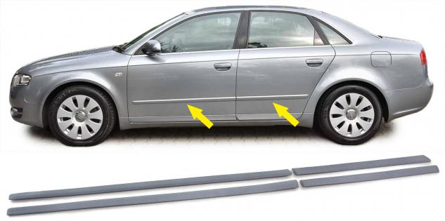 STOßLEISTEN ZIERLEISTEN TÜRLEISTEN SET für Audi A4 B7 8E 04-08