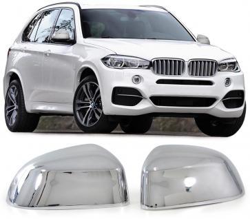 BMW X5 F15 ab 12 AUSSEN SPIEGEL KAPPEN ABDECKUNGEN COVER CHROM