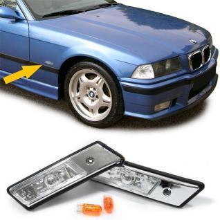 BMW E36 + E34 bis 1996 KLARGLAS SEITENBLINKER CHROM