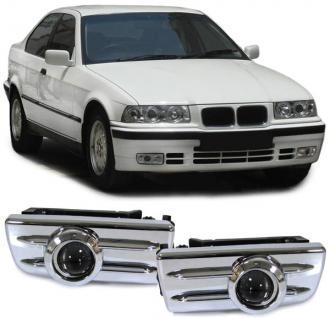 BMW E36 + M3 KLARGLAS PROJEKTOR NEBELSCHEINWERFER CHROM