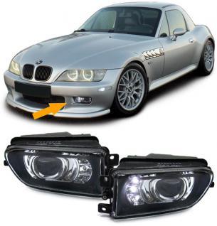 BMW E39 + Z3 NEBELSCHEINWERFER H3 KLARGLAS SCHWARZ + LED