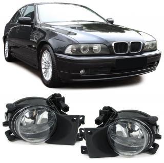 5ER BMW E39 00-04 FACELIFT KLARGLAS NEBELSCHEINWERFER H8 KLAR CHROM PAAR