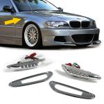 3er BMW E46 + 5er E60 + X3 E83 LED SEITENBLINKER CHROM