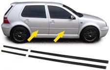 STOßLEISTEN ZIERLEISTEN TÜRLEISTEN SET 4 TEILIG FÜR VW Golf 4 97-02 4 TÜRER