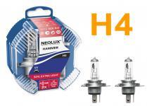 NEOLUX EXTRA LIGHT +50% H4 60/55W 12V HALOGEN 2 STÜCK IM DUOPACK