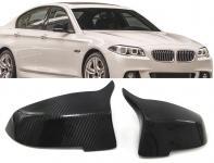 BMW 5ER F10 F11 F18 FACELIFT ECHT CARBON SPIEGEL KAPPEN ZUM AUSTAUSCH M4 OPTIK
