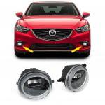 KLARGLAS LED NEBELSCHEINWER MIT TAGFAHRLICHT SCHWARZ FÜR Mazda 2 3 5 6 MX-5 CX
