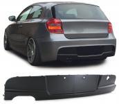 SPORT HECK DIFFUSOR EINSATZ PASST FÜR BMW 1ER E81 E87 04-13 M-TECHNIK STOßSTANGE