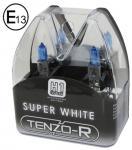 H1 XENON BLUE SUPER WHITE BIRNEN LAMPEN 55W 12V MIT E-ZEICHEN TENZO-R